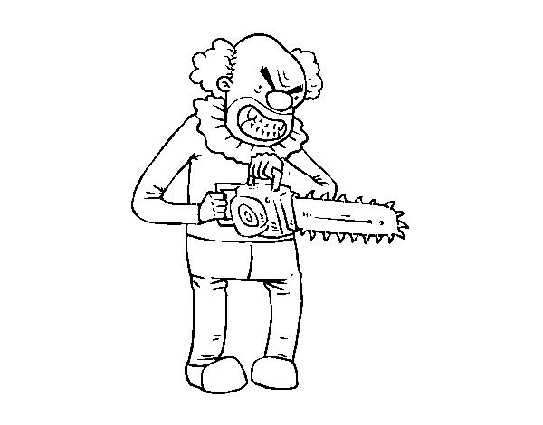 Desenho De Palhaco Assassino Para Colorir Colorir Com