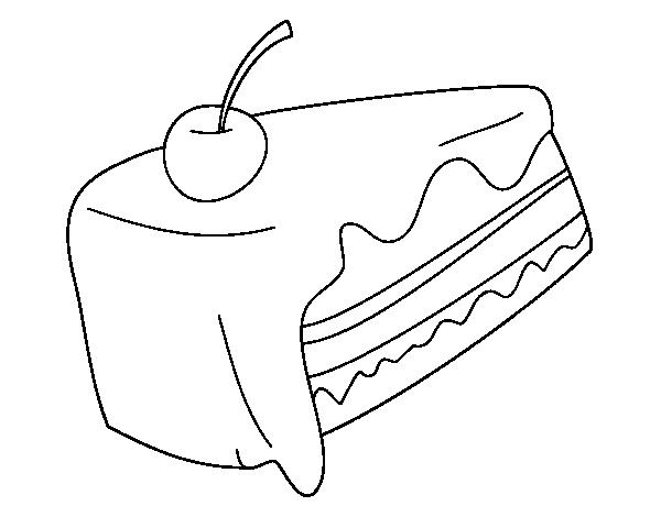 Desenho de Pedaço de bolo para Colorir - Colorir.com