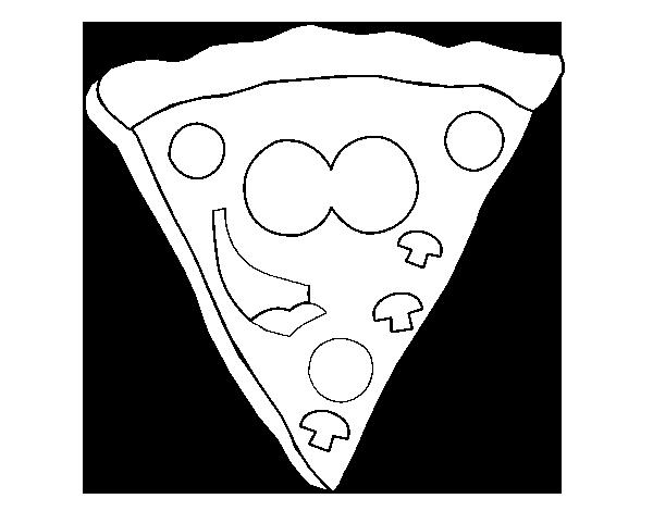 desenho de pizza feliz para colorir colorir com