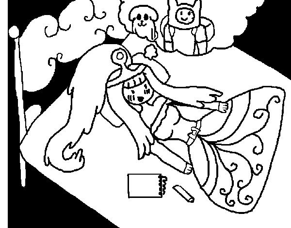 Desenho de Princesa Jujuba a pensar para Colorir - Colorir.com