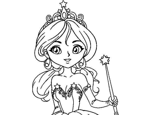 Desenho De Princesa Magica Para Colorir Colorir Com