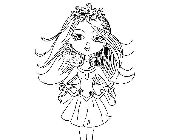 Desenho De Princesa Moderna Para Colorir Colorircom