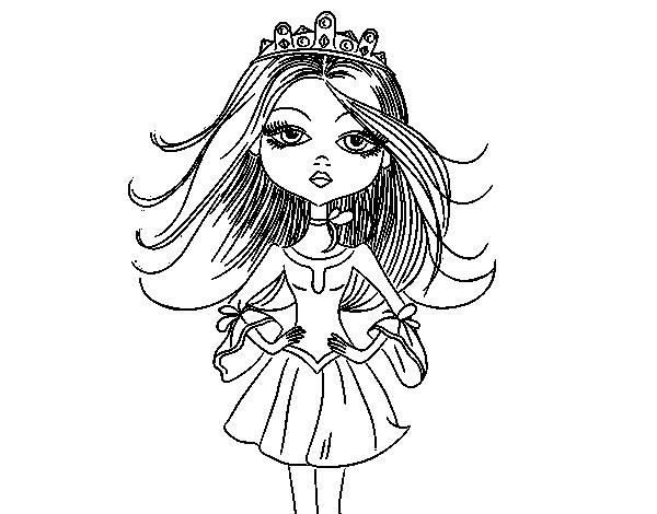 Desenho De Princesa Moderna Para Colorir Colorir Com