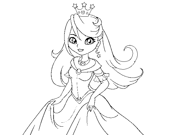 Desenho De Princesa Rainha Para Colorir Colorir Com