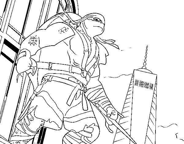 Desenho De Raphael Ninja Turtles Para Colorir Colorir Com