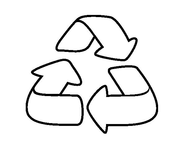 desenho de reciclagem para colorir colorir com
