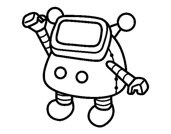 Desenho De Robo Agitando Para Colorir Colorir Com