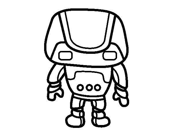 Desenho De Robo Forte Para Colorir Colorir Com