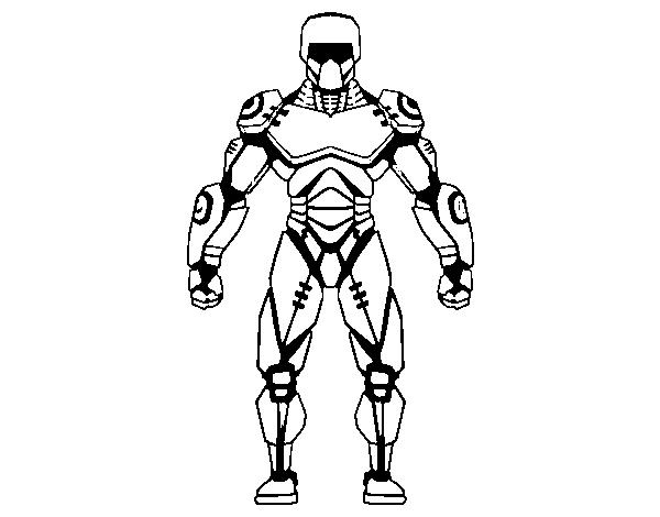 Desenho De Robo Lutador Para Colorir Colorir Com