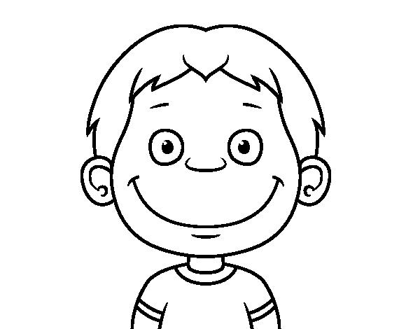 Desenho De Rosto De Crianca Pequena Para Colorir Colorir Com