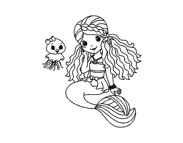 Desenho De Sereia E Medusa Para Colorir Colorir Com