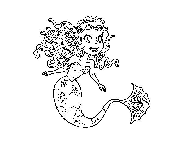 Desenho De Sereia Manga Para Colorir
