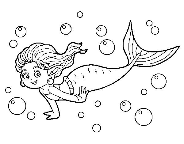 Desenho De Sireia Do Mar Para Colorir Colorir Com