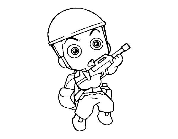 desenho de soldado militar para colorir colorir com