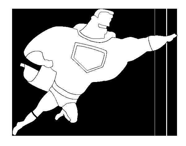 Desenho De Super Herói Enorme Para Colorir