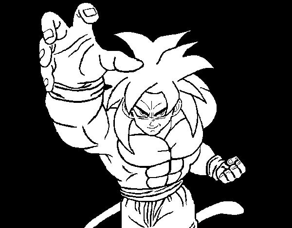 Desenho De Super Saiyan Para Colorir Colorir Com