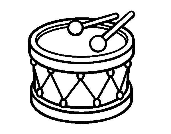 Desenho De Tambor De Brinquedo Para Colorir