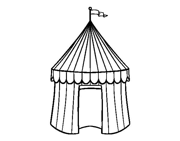 Desenho De Tenda De Circo Para Colorir Colorir Com