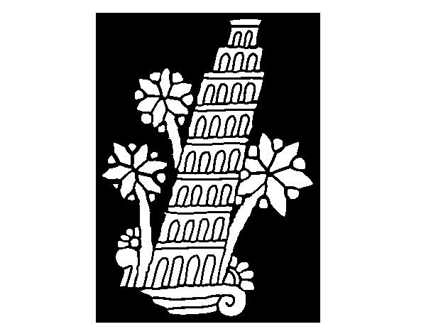 Desenho De Torre De Pisa Para Colorir Colorir Com
