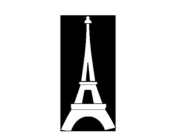 Desenho de Torre Eiffel para Colorir - Colorir.com