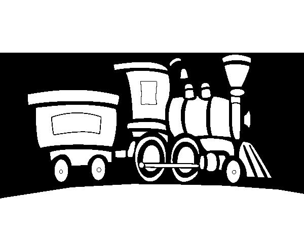 desenho de trem com vagão para colorir colorir com