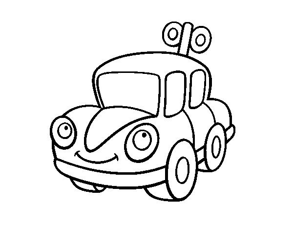 Desenho De Um Carro De Brinquedo Para Colorir Colorir Com