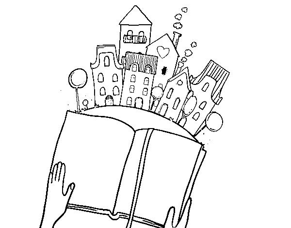 Desenho De Um Conto Na Cidade Para Colorir Colorir Com