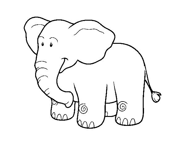 Desenho de Um elefante Africano para Colorir - Colorir.com