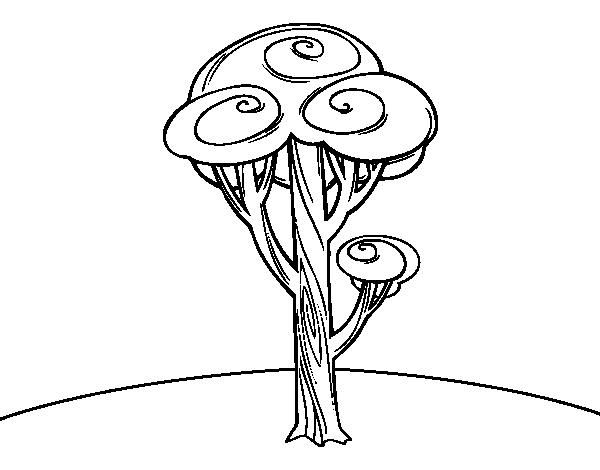 desenho de um pinheiro para colorir colorir com