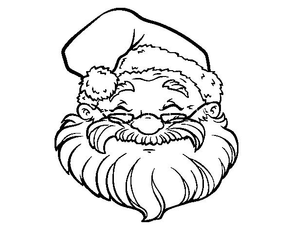 Desenho De Uma Face De Papai Noel Para Colorir