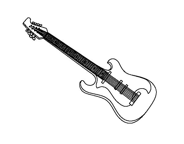 desenho de uma guitarra elétrica para colorir colorir com