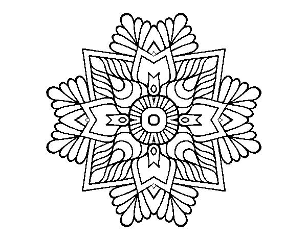Desenho De Uma Mandala Em Mosaico Para Colorir Colorir Com