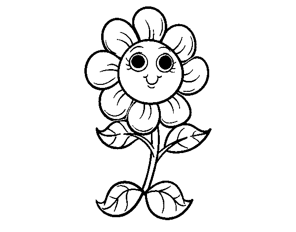 Desenho De Uma Pequena Flor Para Colorir Colorircom