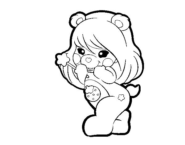 Desenhos Kawaii Para Colorir: Desenho De Ursa Kawaii Para Colorir