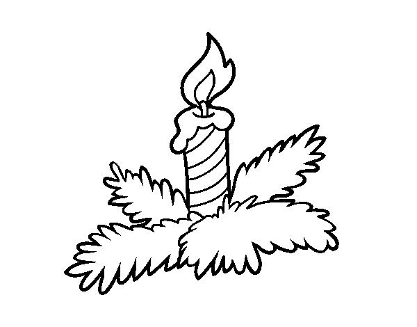 desenho de vela do natal para colorir colorir com
