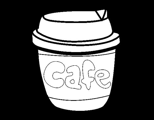 desenho de xícara de café para colorir colorir com