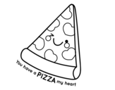 Dibujo de You have a pizza my heart