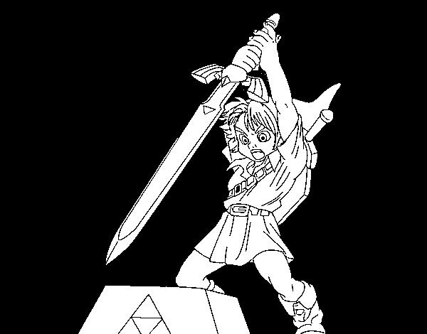 Desenho De Zelda Para Colorir Colorir Com